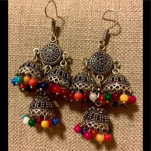 Stunning handmade rainbow 🌈 earrings from India